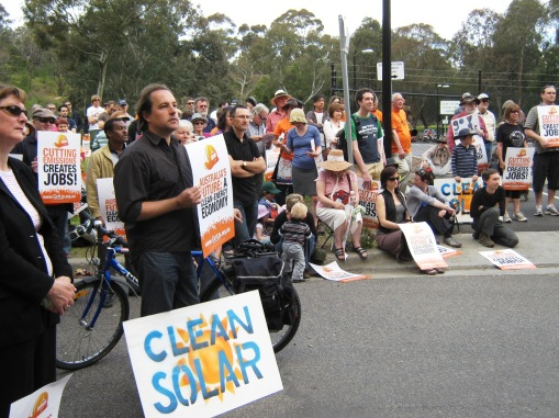 200 rally to save Solar Systems factory